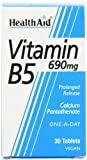HealthAid Calcium Pantothenate (Vitamin B5) 690mg - Prolong Release - 30 Tablets