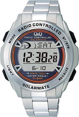 [シチズン Q&Q] 腕時計 SOLARMATE (ソーラーメイト) 電波ソーラー クロノグラフ MHS7-200 シルバー
