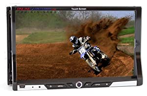 Performance Teknique ICBM-9707 7-In TFT Touch Screen,Double Din,Dvd Player wi...
