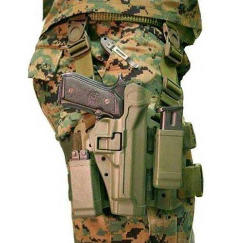 Blackhawk! Serpa Level 2 Tactical Foliage Green Holster, Size 04, Right Hand, (Beretta 92/96/M9 Std Or A1 W/Rails (Not Brig/Elite)