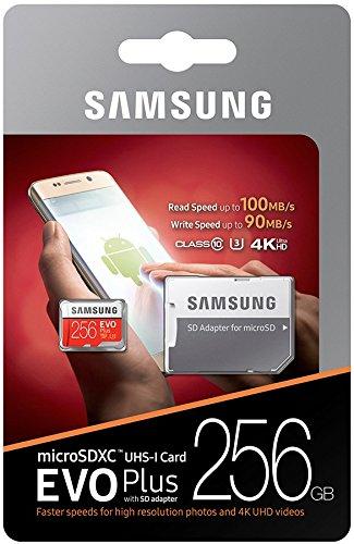 Samsung MicroSD EVO Plus Series 100MB/s (U3) Micro SDXC Memory Card with Adapter MB-MC256GA (256GB) (Tamaño: 256GB)