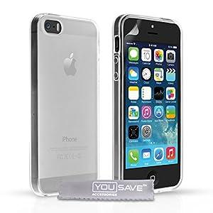 Yousave Accessories Coque en gel silicone pour iPhone5 Transparent