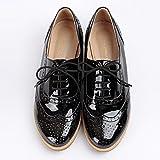 おじ靴 エナメルウィングチップオックスフォードシューズ (23cm, 01.ブラック)
