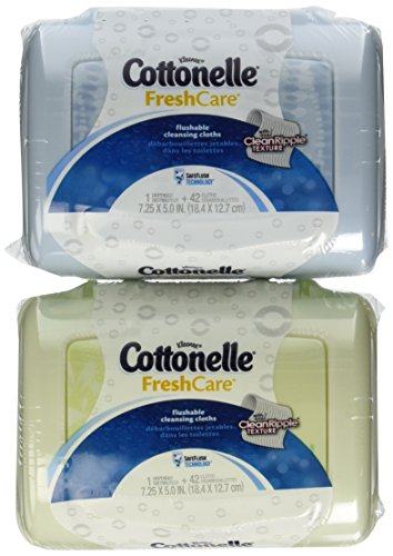 Cottonelle Fresh Folded Moist Wipes 4 Tubs of 42 - 1