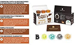 3 Pack of Smart Cups/ Bonus Filters/refillable for Keurig 2.0 & 1.0 & Other Single Cup Brewer / Reusable Plastic Pods/ Quality K-cups for Keurig & Single Serve Coffee Brewers/ Budget Friendly Solutions for Tea, Hot Chocolate & More