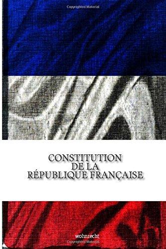 Constitution de la Republique francaise