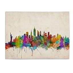 Trademark Fine Art New York Skyline Canvas Art by Michael Tompsett, 30 by 47-Inch