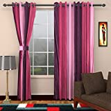 Ajay Furnishings 3 Piece Polyester Modern Window Curtain - 5 ft, Purple
