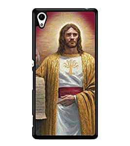 Fuson 2D Printed Lord Jesus Designer back case cover for Sony Xperia Z4 - D4413