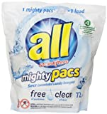 all mighty pacs - free clear Laundry Detergent, 72 Count