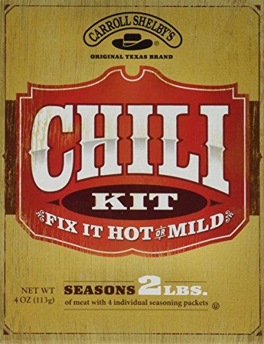 Carroll Shelbys Original Texas Chili Kit, 4 oz (Pack of 2) (Carrolls Chili Mix compare prices)