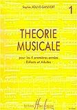 echange, troc Sophie Jouve-Ganvert - Théorie musicale Volume 1