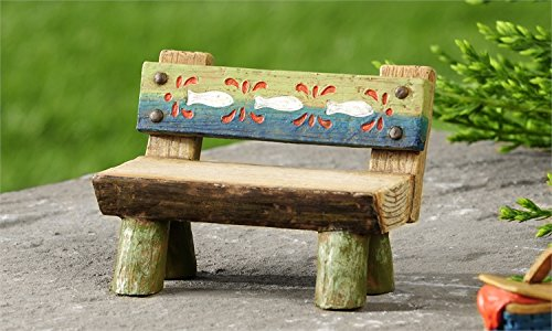 Miniature Fairy Garden Lakeside Log Bench