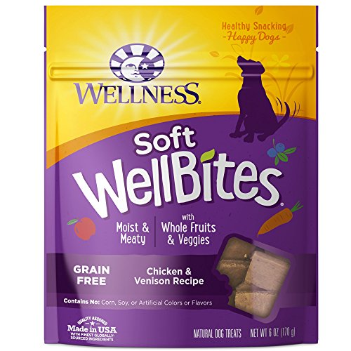 Wellness Soft WellBites Natural Grain Free Dog Treats, Chicken & Venison, 6-Ounce Bag (All Natural Pet Food compare prices)