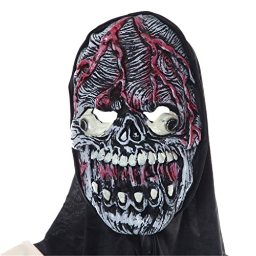 [Rumas Halloween Party Mask Cosplay Mask Pumpkin Scarecrow Terror Mask Head Mask] (Making A Scarecrow Costume)