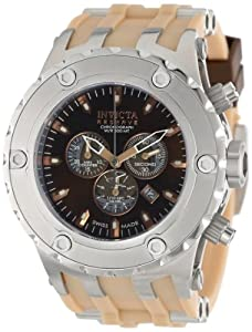 Invicta Men's 14173 Subaqua Reserve Chronograph Brown Dial Tan Polyurethane Watch