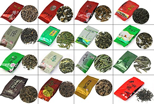 28 Different Flavors Famous Tea, Including Black/Green/White/Yellow/Jasmine Tea,Puerh,Oolong,Tieguanyin,Dahongpao,M02
