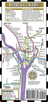 Streetwise Washington DC Metro Map - Laminated Washington DC Metrorail & Mall Map - Pocket Size