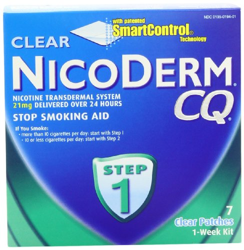 NicoDerm CQ Clear Nicotine Patch 21 mill
