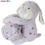 Babies Bloom Multi Dot Grey Monkey Cuddle Set - Quilt/Blanket