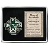Celtic Cross Memorial Keepsake Box With Solid Brass Ash Vial Urn