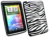 FLASH SUPERSTORE HTC FLYER TABLET SILICON CASE/COVER/SKIN ZEBRA BLACK/WHITE