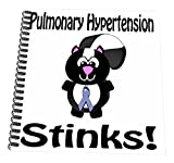3dRose db_115966_3 Pulmonary Hypertension Stinks Skunk Awareness Ribbon Cause Design-Mini Notepad, 4 by 4