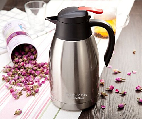 Onepalace Thermos Vacuum Insulated Stainless Steel Carafe Tumbler Compact Cup Beverage Bottle with Double Wall Thermo Construction leakproof 1.5L Capacity - 52Oz (Silver) (Carafe Leak Proof compare prices)