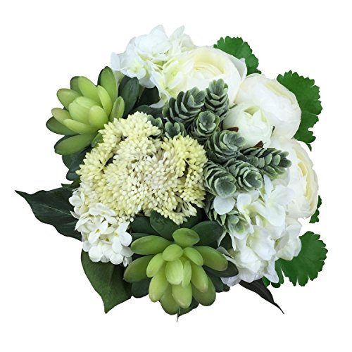 Lily Garden Hydrangea Berry Succulents Plant Ranunculus Wedding Bouquet (More Greenery)