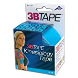 "3B Scientific S-3BTBLN Blue Cotton Rayon Fiber Kinesiology Tape, 16' Length x 2"" Width"