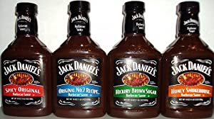 Jack Daniel's Barbecue Sauce Combo (Pack of 4 assorted flavors) from Jack Daniel's