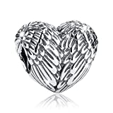 Bamoer Love Heart Cheap Real Silver Charms for Bracelet Necklace Jewelry