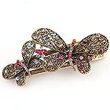 Ecloud Shop® Joyería de la vendimia de la mariposa de cristal bowknot Rhinestone de las horqu