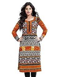 RR Fashion Women's Cotton Unstitched KURTI(R1001_MULTICOLOUR)