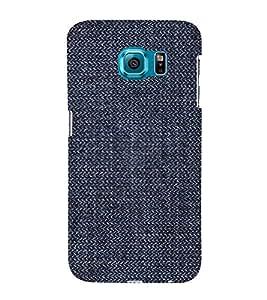Blue Denim Pattern 3D Hard Polycarbonate Designer Back Case Cover for Samsung Galaxy S6 :: Samsung Galaxy S6 G920