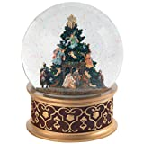 Musical Snowglobe Christmas Angel Nativity Scene Snow Globe Plays Silent Night for Holiday Decorations