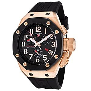 Mens 10541-RG-01-BB Trimix Diver Collection Chronograph Black Rubber Watch