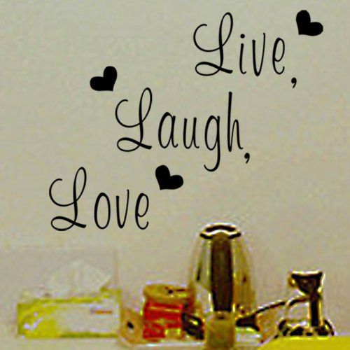 zooyoo live laugh love love heart diy removable wall decal for living room bedroom vinyl