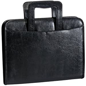 Black Retractable Handle Padfolio by Bags For LessTM