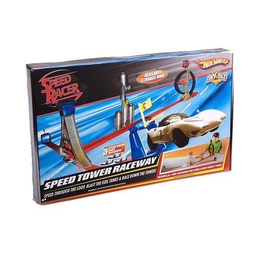 Speed Racer Hot Wheels Trick Tracks Speed Tower Raceway Track Set