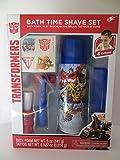 TRANSFORMERS Bath Time Shaving Set Bath Foam Tattoos Comb Razor Shave Brush Pretend Play