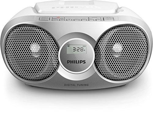Philips AZ215S lecteur CD/CD-R/CD-RW, tuner FM, entrée audio, facile à utiliser, Argent