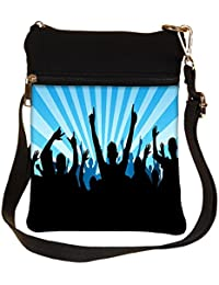 Snoogg Put Your Hand Up Cross Body Tote Bag / Shoulder Sling Carry Bag