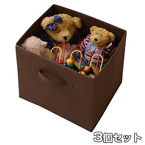 山善(YAMAZEN) A4カラーボックス対応 収納ボックス 3個組 YTC-A4YL(BR*3) ブラウン