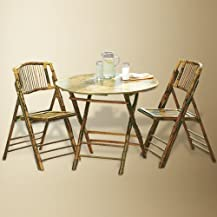 Bamboo Folding Table and Chairs