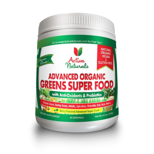 #1 All Natural & Organic Advanced Greens Superfood With Amazing Berry Flavored Greens And Whole Food Nutritions, Powerful Anti-Oxidants, Probiotics, Vitamins And Minerals - Vegan & Gluten-Free Greens Supplement