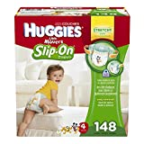 Huggies Little Movers Slip-On Diaper Pants, Size 4, 148 Count