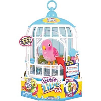 Little Live Pets Cage #3 Rare Pink Bird Cage by Little Live Pets