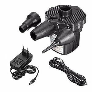 Pompe à air,Drillpro Pompe gonfleur électrique,prise 220V,Puissance 200W,Pompes à air électriques,Pompe électrique,Pompe matelas gonflable pour Gonflable Camping,Voiture.etc