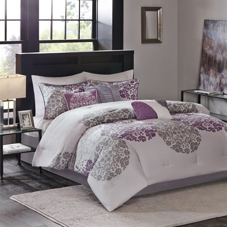Madison Park Sydney 7 Piece Comforter Set Purple King